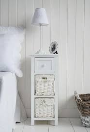 small white bedside table. Contemporary Table Bar Harbor Small White Bedside Table With Baskets And Drawers From The White  Lighthouse Inside Small Bedside Table F