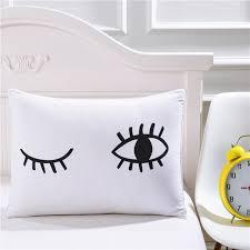 Bedding Outlet Black Eyelash Eye Pillowcase Decorative Pillow Case White  Pillowcases Cover Gift Funny Pillows Capa