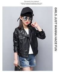 specifications of spring autumn pu leather jacket for girls teenages clothes child motorcycle er blazers 2018 children outerwear coats