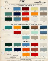 Chevy Stock Chart 1966 Chevy Truck Factory Color Code The 1947 Present
