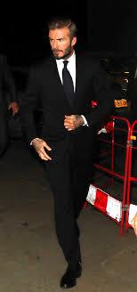 Living Room Bar Manchester Dapper David Beckham Steps Out In Sharp Suit As He Returns For