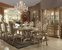 Traditional Dining Set Vendome Gold By Acme Furniture ACSET - Traditional dining room set