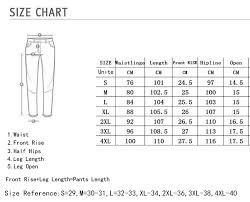 Jeans Size Chart Us Eu Cotton Jean Mens Pants Vintage Hole Cool Trousers For Guys 2019 Summer Europe America Style Plus Size 3xl Ripped Jeans Male