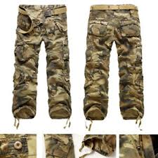 Arm Pants Hot Mens Combat Arm Military Camouflage Cargo Trousers Cotton Camo