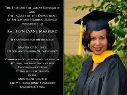 masters degree graduation announcement