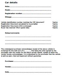 Personal Car Sale Agreement Car Sale Agreement Uk Private Car Sale Contract Template