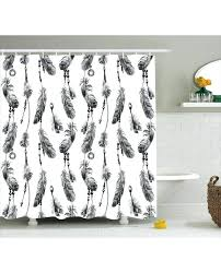 shower curtain black white feather print for bathroom black white shower curtain bathrooms black white shower