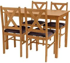 oak dining table. HOME Ava Solid Oak Dining Table \u0026 4 Chairs - Chocolate Y