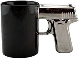 These items are shipped from and sold by different sellers. Amazon Com Chrome Gun Handle Decorative Ceramic Tea Cup Coffee Mug Black Coffee Cups Mugs