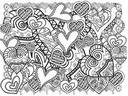 Small Picture Adult coloring page Valentines Day Hearts 3
