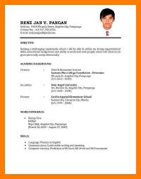 Example Resume Format For Ojt Fishingstudio Com