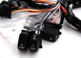 black switches and wires harness for harley davidson hand controls will fit all 1996 2006 harley davidson models and custom application
