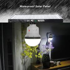 Amazoncom Kkbol Solar Lamp Portable Led Light Bulb Solar Panel