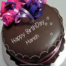 Happy Birthday Chocolate Cake For Manish