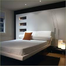 bedroom: Marvelous Armature On Small Black Table Beside Cozy Bed Fit To Basement  Bedroom Ideas