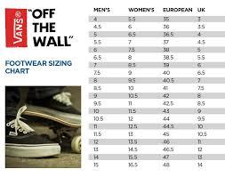 Slip On Size Chart Size Chart Vans Slip On Og Www Bedowntowndaytona Com