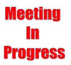 Printable Pdf Meeting In Progress Sign Signs Signs Pdf Printables