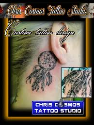 Dream Catcher Tattoo Behind Ear The Ear Dreamcatcher Tattoo 67