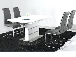 white dining table set uk white high gloss dining table and 4 black chairs set