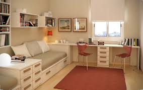 Nice Kids Bedroom Neat Long Desk For With Cream Finish In Room Intended Eisting  House