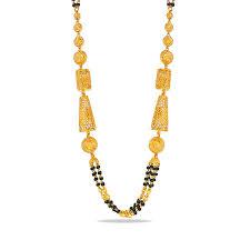 Black Beads Designs In Kalyan Jewellers Best Black Beads Light Weight Chain Latest Design