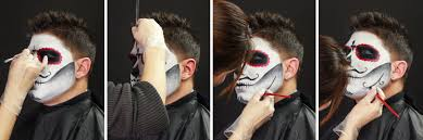 accentuate features with curly lines and other patterns typically found on a sugar skull