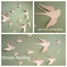 Gallery of Awesome Paper Bird Wall Decor