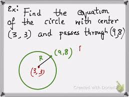 circle equation given center point it p through
