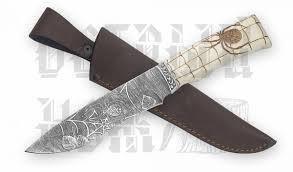 <b>Нож Беркут</b> (дамаск, гравировка Паук, рог лося) | Острый <b>нож</b> ...