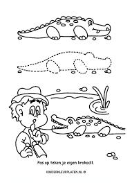 Kleurplaat Krokodil Spelletjes