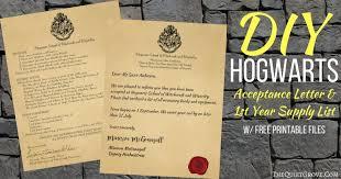Harry Potter Diy Hogwarts Acceptance Letter 1st Year