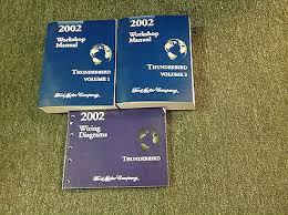 ford thunderbird service repair shop manual set w electrical 2002 ford thunderbird service repair shop manual set w electrical wiring diagram