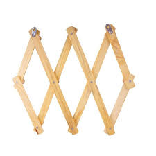 Expandable Wooden Coat Rack Best 32 Hooks Expandable Folding Wood Coat Rack Hook Storage Hanger Tmart