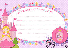 printable princess invitation template