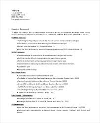 Dance Resume Template Magnificent Experinced Level Dancer Resume Template Dance Swarnimabharathorg