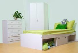 corner bedroom furniture. Oslo Bed Corner Wardrobe And Chest Of Drawer Childrens Bedroom Set White Or Beech M0510 Furniture