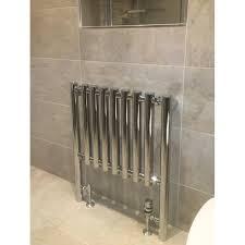 600mm w x 800mm h metis chrome designer heated towel rail radiator