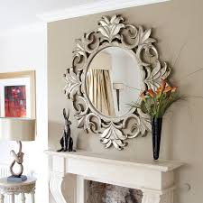 wood wall mirrors. Wall Decor Mirrors 4 Bedroom Accessories Contemporary Home Interior Decoration Using White Wood Shelf Over Fireplace E
