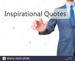 Inspirational Quotes Businessman Hand Pressing Button On Touch