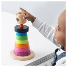 ikea stacking ring multi color wooden educational toys wooden toys ikea