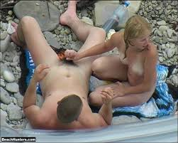 Nake couples sex on the beach