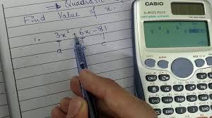 how to solve quadratic equation on casio calculator 991es plus