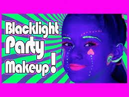 blacklight uv makeup tutorial for glow parties