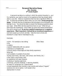 essay writing examples personal narrative essay