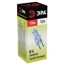 Купить <b>Лампа галогенная Эра</b> Jc G4 12V 10W <b>Jc</b>-<b>10</b>-<b>12</b>-G4 в ...