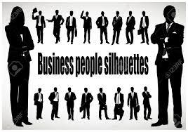 ビジネスマンのシルエット