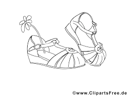 Chaussures Dessin Coloriage Fille T L Charger Fille