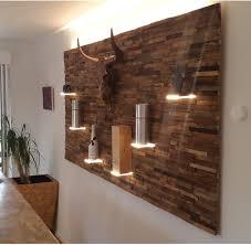 Bar Wand Spaltholz Mit Led Beleuchtung