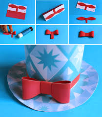 bow for holiday paper hat free