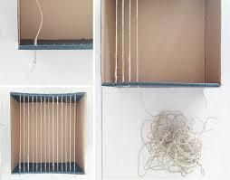 cardboard weaving loom